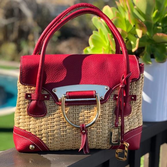 Dolce   Gabbana Bags   Dolce Gabbana Straw And Leather Tote   Poshmark 7171657180